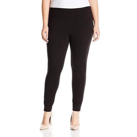 HUE Women's Ponte Leggings, Black, SZ Medium