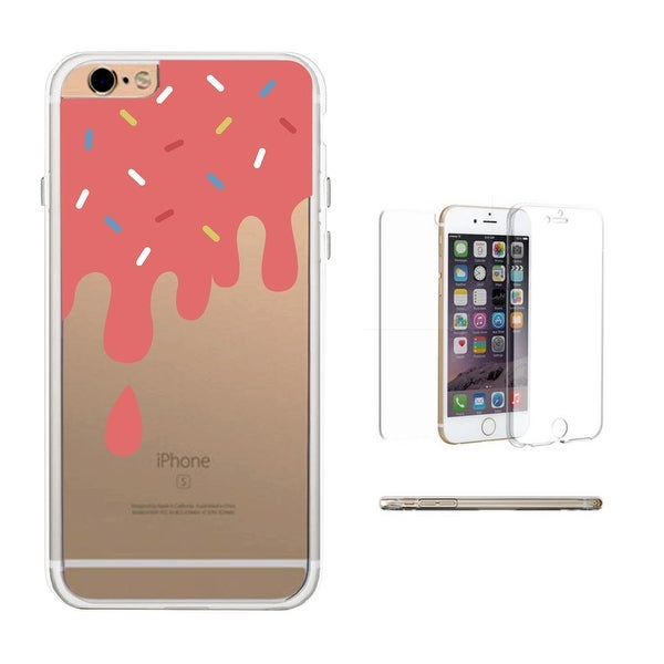 360° Full Protection Melting Ice Cream Transparent iPhone Cover Cute Phone Case