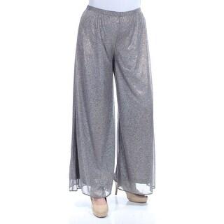 MSK Womens Silver Glitter Party Pants Size: L