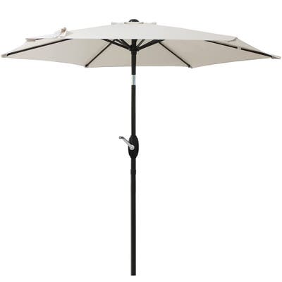 7.5 FT Patio Table Umbrella,Easy Assembled,UV Protective Beige