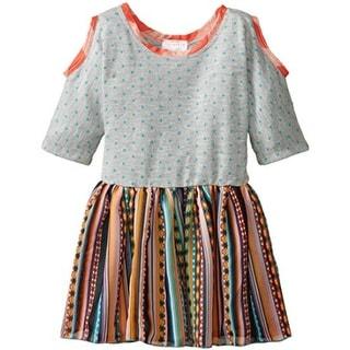 Elisabeth Girls Casual Dress Chiffon Open Shoulder - 6x