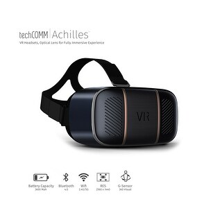 TechComm Achilles 3D Android 32GB VR Headset with Wi-Fi, HDMI and High-Tech PMMA Optical Lens for Fully Immersive Experience