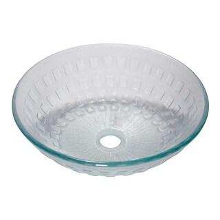 Tempered Glass Bathroom Vessel Frosted Diamond Glass Pop-upIn Renovator's Supply