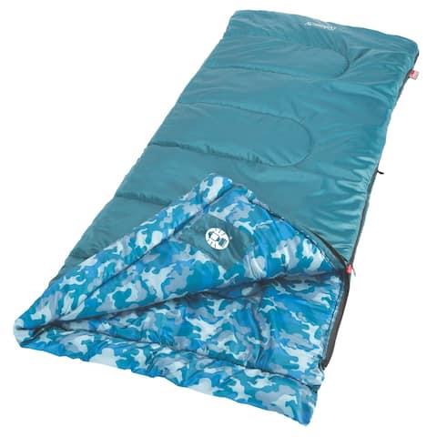 Coleman Youth Boys Sleeping Bag 2000019647 w/ Comfort Cuff & Zippers