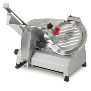 """Della 12"""" Stainless Steel Blade Electric Meat Slicer Commercial Deli Food Cheese Veggies Cutter, w/ Fixed Knob"""