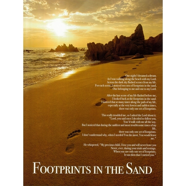 Footprints In The Sand Poster (18x24)