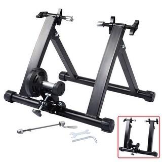 Costway Portable Indoor Exercise Resistance Bicycle Trainer Bike Stand - Black