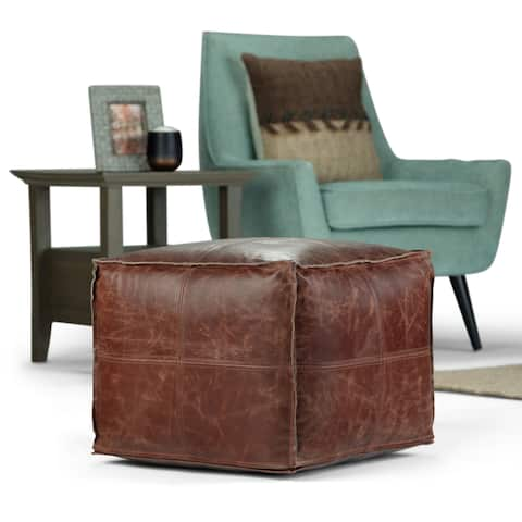 WYNDENHALL Erving Transitional Square Pouf