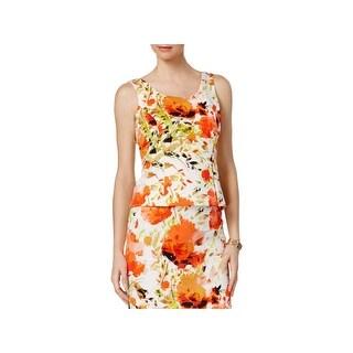 Kasper Womens Blouse Scuba Floral