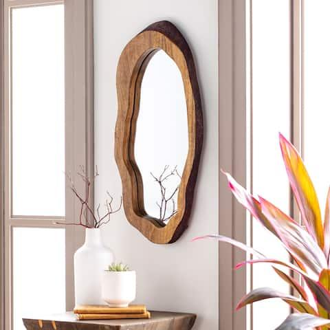 Freja Natural Wood Oblong Mirror