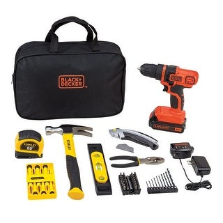 Black & Decker BDPKSBD89C 20V MAX Cordless Lithium-Ion Drill/Driver Kit, 70 Pieces