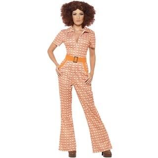 Smiffy 70s Chic Chick Adult Costume - Orange