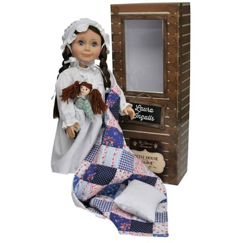 Official Little House on the Prairie 18 Inch Laura Ingalls Doll. Complete with a Nightgown, Rag Doll, Pillow And Quilt