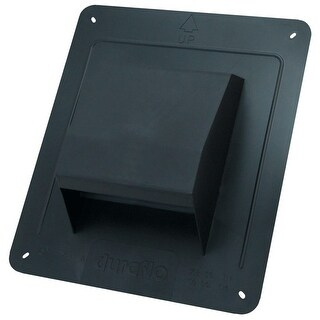 """Air King RCB 4"""" Round Duct Plastic Roof Cap with Damper - Black - N/A"""