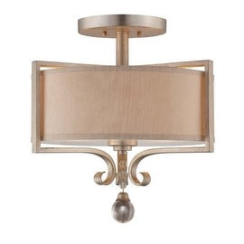 "Savoy House 6-258-2 Rosendal 2 Light 16"" Wide Semi-Flush Ceiling Fixture"
