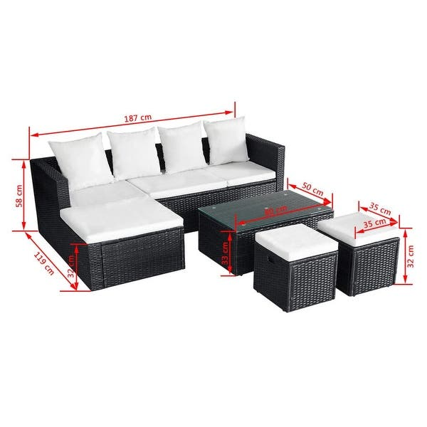 Surprising Shop Vidaxl Outdoor Corner Sofa Set Wicker Poly Rattan Black Pabps2019 Chair Design Images Pabps2019Com