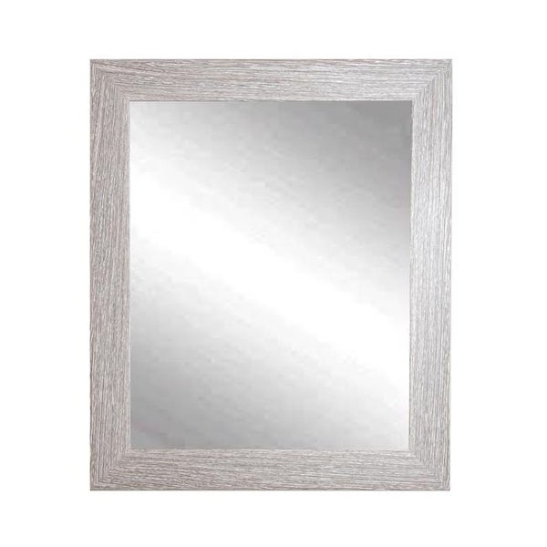 Rich Rustic Brown & White Framed Vanity Wall Mirror, 26.5 x 33 ...