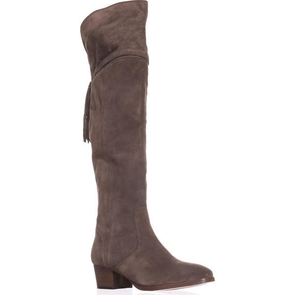 FRYE Clara Back Tassel Over The Knee Slouch Boots, Elephant