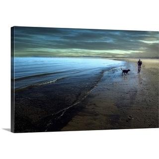 """A walk on the beach"" Canvas Wall Art"