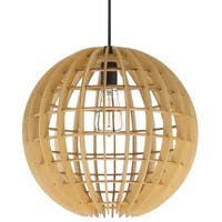 """Craftmade P8051 Single Light 16"""" Wide Pendant with Natural Wood Sphere"""