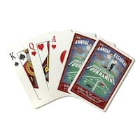 Shuffleboard Vintage Sign - Lantern Press Artwork (Poker Playing Cards Deck)
