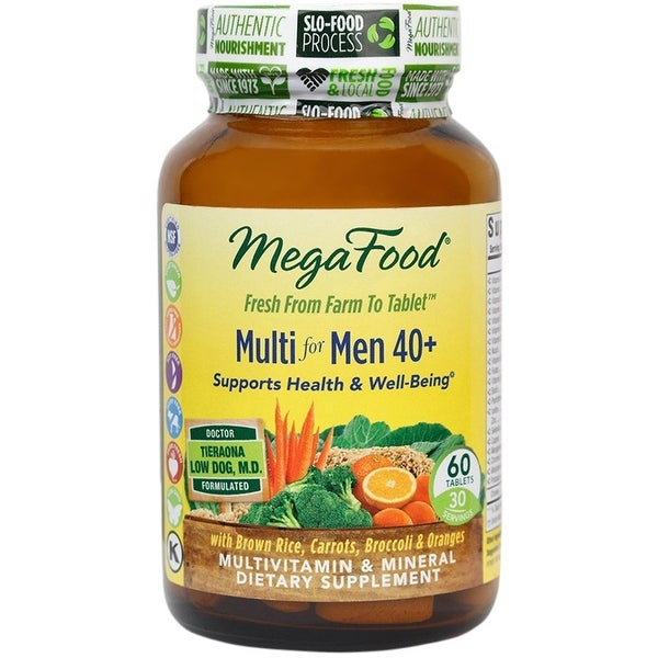 MegaFood Multi for Men 40+ Supports Health & Well-Being - 60 Tablets