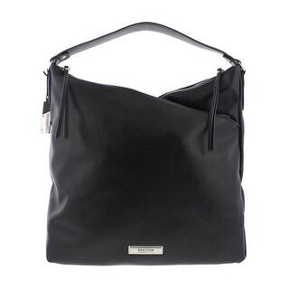 Kenneth Cole Reaction Womens Tribeca Hobo Handbag Faux Leather Asymmetric - LARGE