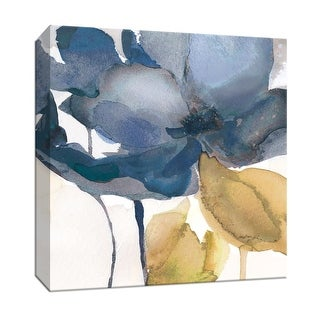 """PTM Images 9-147100  PTM Canvas Collection 12"""" x 12"""" - """"Blue Note II"""" Giclee Flowers Art Print on Canvas"""