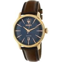 Maserati Men's  Brown Leather Quartz Fashion Watch