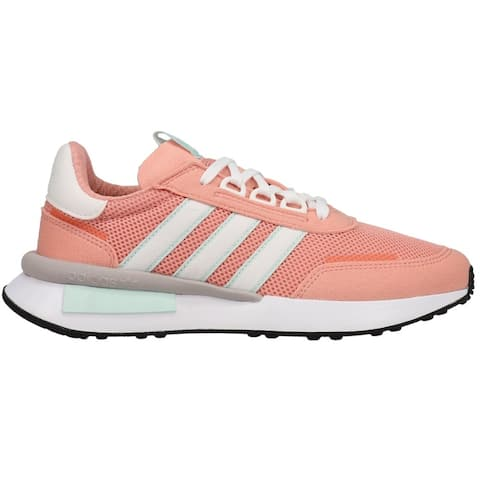 adidas Retroset Lace Up Womens Sneakers Shoes Casual - Pink