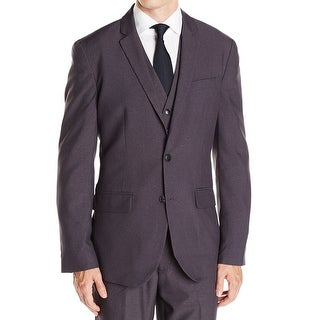 Kenneth Cole NEW Charcoal Gray Mens Size Small S Two Button Grid Blazer