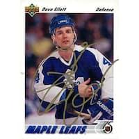 Signed Ellett Dave Toronto Maple Leafs 1991 Upper Deck Hockey Card autographed