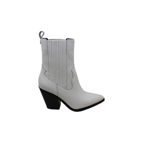 Aldo Women's Shoes Drerissa Leather Pointed Toe Ankle Cowboy Boots