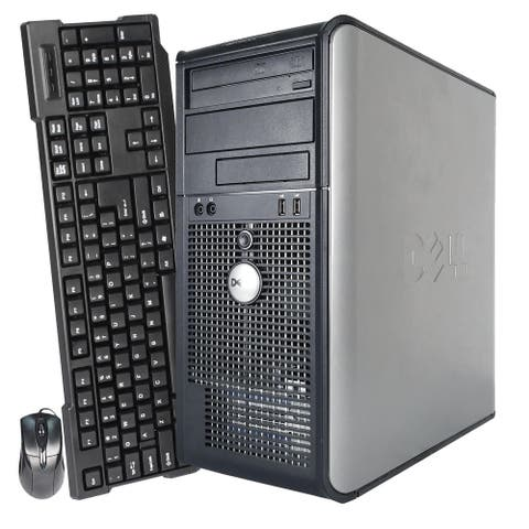 Dell Optiplex Computer 360 Tower 2GB RAM 160GB HDD Windows 10 Home - Silver