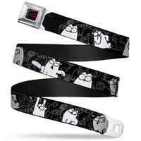 Simon's Cat Full Color Black Red Simon's Cat Poses Sketch Poses Black Gray Seatbelt Belt