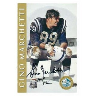 Gino Marchetti Autographed 1998 Hall Of Fame Signature Series Card