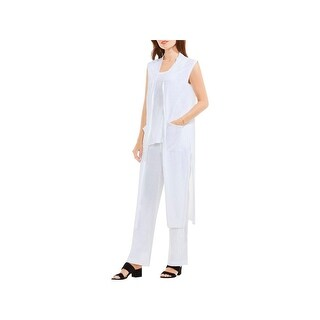 Two by Vince Camuto Womens Vest Linen Side Slit