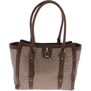 London Fog Womens Lancaster Tote Handbag Textured Colorblock - Medium