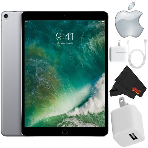 """Apple 10.5"""" iPad Pro (512GB, Wi-Fi Only , Space Gray) Mid 2017 Version - Starter Bundle"""