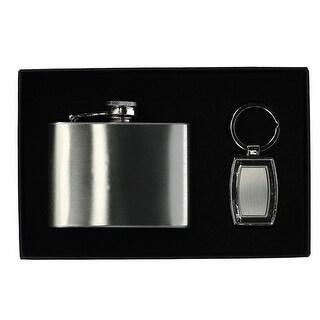 Umo Lorenzo Key Chain and Flask Gift Set - One size