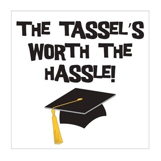 "Club Pack of 192 Tassel Talk ""The Tassel's Worth The Hassle!"" Disposable Beverage Napkins 5"""