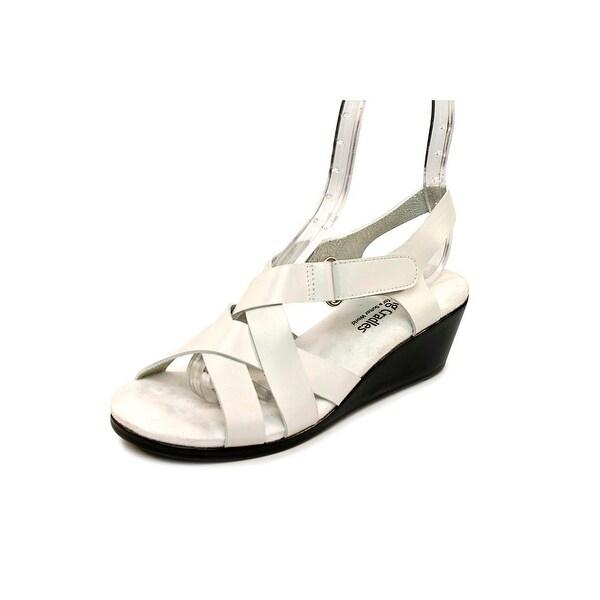 Walking Cradles Newton Women N/S Open Toe Leather Wedge Sandal