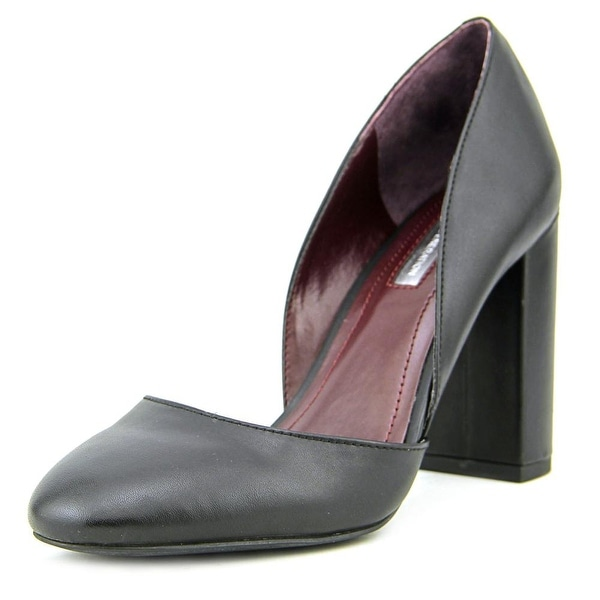 BCBGeneration Franklyn Women Round Toe Leather Black Heels