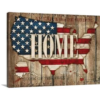"""USA - Home"" Canvas Wall Art"