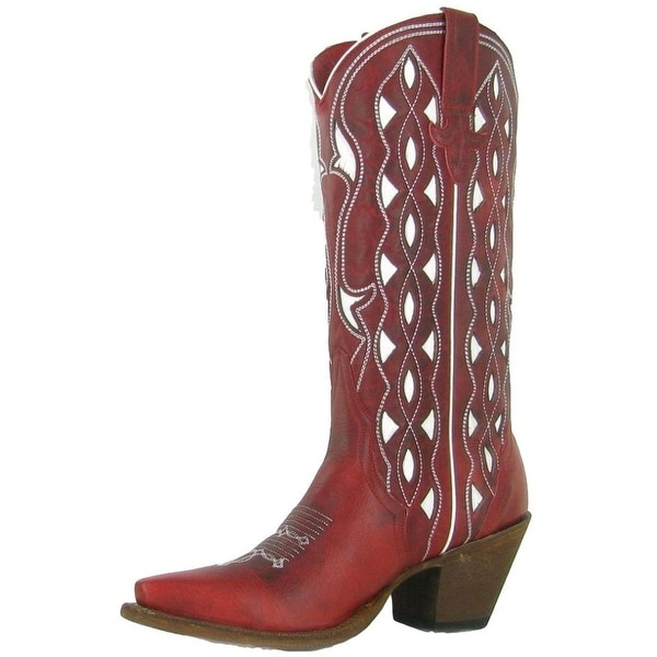 Macie Bean Western Boots Womens She's My Cherry Pie Red Apple
