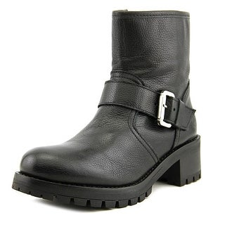 Bronx Freek Out Women Round Toe Leather Black Boot