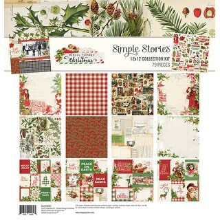 """Simple Stories Collection Kit 12""""X12""""-Simple Vintage Christmas"""