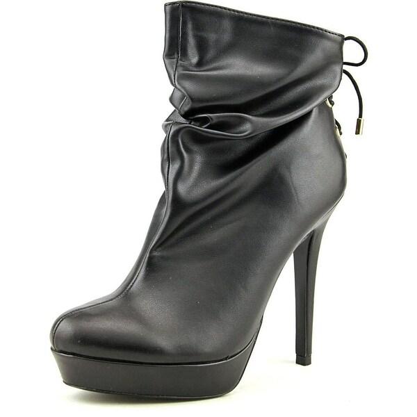Thalia Sodi Honra Women Round Toe Synthetic Black Ankle Boot