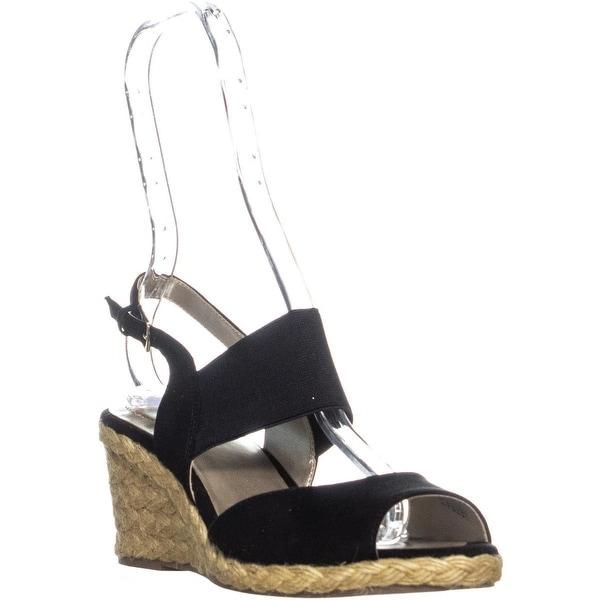 f26d92770cd Shop Bandolino Himeka Espadrilles Wedge Sandals, Black - On Sale ...
