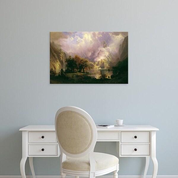 Easy Art Prints Albert Bierstadt's 'Rocky Mountain Landscape' Premium Canvas Art
